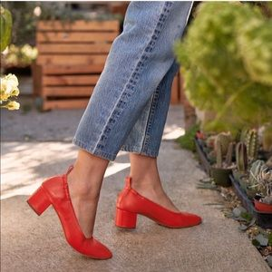 Everlane | The Day Heel | Bright Red